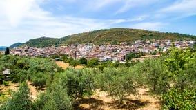 Orani,一个小撒丁岛镇,意大利看法  库存图片