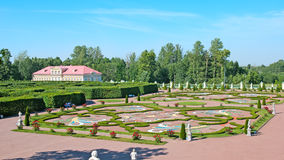 Oranienbaum (Lomonosov). Saint-Petersburg. The Lower Regular Garden Royalty Free Stock Image