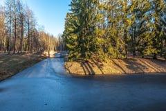 Oranienbaum.Park. Reka Karosta. Image stock