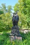 Oranienbaum, Russia Tolleranze scultoree del gruppo tre (tre virtù) Immagine Stock