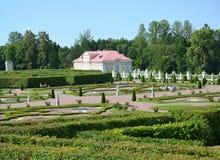 ORANIENBAUM, RUSSIA. View of Nizhny  garden of the Grand Menshikov Palace Stock Photo