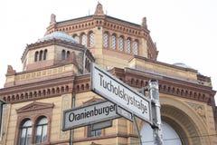 Oranienburger和Tucholsky街,柏林 免版税库存图片