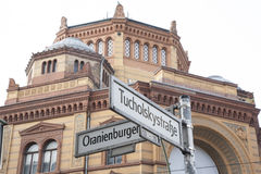 Oranienburger and Tucholsky Streets, Berlin Royalty Free Stock Image