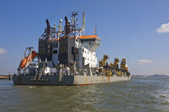 Oranje. A Trailing suction hopper Dredger at Work Royalty Free Stock Photography