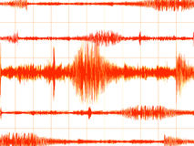 Oranje aardbevingsgrafiek Royalty-vrije Stock Afbeeldingen