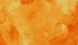 Oranje abstract de textuurart. van de indrukwaterverf Artistieke heldere bacground royalty-vrije illustratie