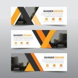 Oranje abstract driehoeks collectief bedrijfsbannermalplaatje Stock Foto's