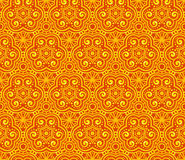 Oranje abstract krullen naadloos patroon Stock Foto