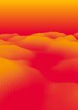 Oranje Abstract Veelhoekig Landschap Stock Foto