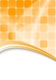 Oranje abstracte achtergrond met cellen Stock Fotografie