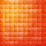 Oranje abstracte achtergrond van gestippeld Stock Afbeelding