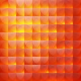Oranje abstracte achtergrond van halve cirkels Royalty-vrije Stock Foto's