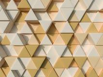 Oranje abstracte 3d driehoeksachtergrond