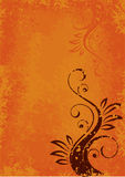 Oranje abstracte lay-out Stock Foto's