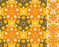 Oranje abstracte meubilairachtergrond Royalty-vrije Stock Foto's