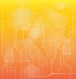 Oranje abstracte technologie vectorachtergrond Stock Fotografie