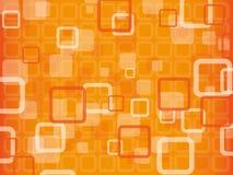 Oranje abstracte vectorachtergrond Stock Afbeeldingen