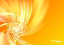 Oranje abstracte werveling royalty-vrije illustratie