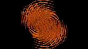 Oranje abstracte zanderige roterende elementen builging bal Aanwijzing in grungestijl vector illustratie
