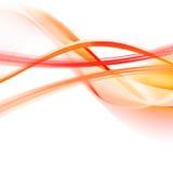 Oranje abstractie op een wit Stock Illustratie