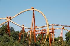 Oranje achtbaan Stock Fotografie