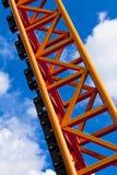 Oranje achtbaansteiger Royalty-vrije Stock Afbeeldingen