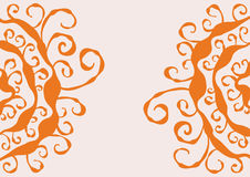 Oranje Achtergrond Stock Foto