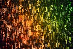 Oranje achtergrond met cijfers Stock Foto's