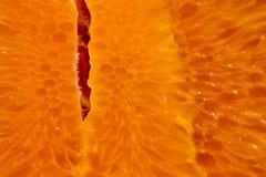 Oranje achtergrond van plak van een fruittextuur Royalty-vrije Stock Afbeelding
