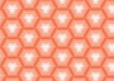 Oranje achtergrond in veelhoeken Royalty-vrije Stock Afbeelding