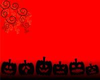 Oranje Achtergrond voor Halloween-dag Stock Afbeeldingen