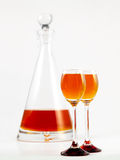 Oranje alcoholische drank Stock Foto