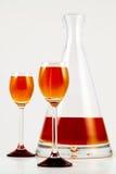 Oranje alcoholische drank Royalty-vrije Stock Afbeeldingen