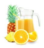 Oranje-ananassap royalty-vrije stock foto