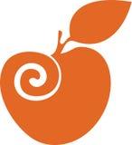 Oranje appel royalty-vrije stock foto's