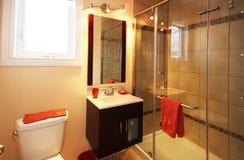 Oranje badkamers Stock Afbeelding