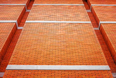 Oranje Bakstenen muur Royalty-vrije Stock Foto's