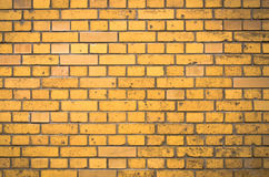 Oranje Bakstenen muur Royalty-vrije Stock Fotografie
