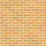 Oranje Bakstenen muur Royalty-vrije Stock Afbeelding