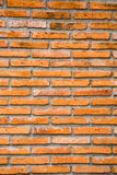 Oranje Bakstenen muur Stock Foto