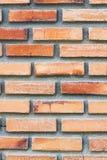 Oranje bakstenen muurtextuur Stock Afbeelding
