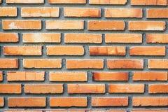 Oranje bakstenen muurtextuur Royalty-vrije Stock Afbeelding