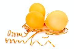 Oranje ballons. Stock Fotografie