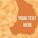 Oranje banner met driehoeksvorm Stock Afbeelding