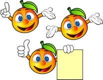 Oranje beeldverhaal Stock Foto's