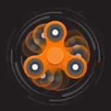 Oranje bewegende spinner royalty-vrije illustratie