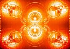 Oranje beweging veroorzakend Stock Foto's