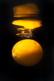 Oranje bezinning Stock Fotografie