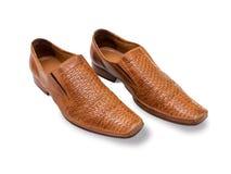 Oranje-biege-oranje mensen` s schoenen Royalty-vrije Stock Foto's