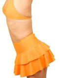 Oranje Bikini Stock Foto's
